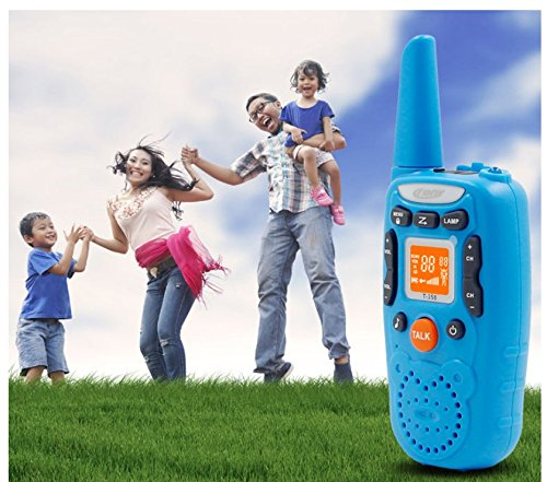 Eoncore T358 Walkie Talkies for Kids Two Ways Radio Toy Long Range 22 Channels 10 Call Tone Build-in Flashlight Blue by Eoncore (Image #5)