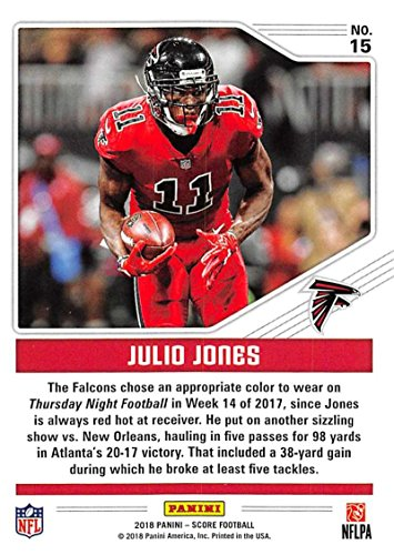 Amazon.com  2018 Score Color Rush  15 Julio Jones Atlanta Falcons Football  Card  Collectibles   Fine Art 214215e1e