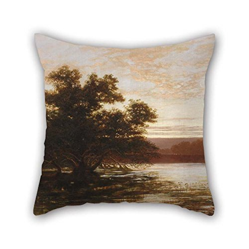 Pillow Shams of Oil Painting Wc Piguenit - an Australian Mangrove, Ebb Tide for Lover Monther Deck Chair Chair Son Study Room 16 X 16 Inches / 40 by 40 (Needlepoint Chair Pad)
