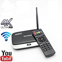 HONOT CS918 Andriod 5.1 TV BOX Player Quad Core 2GB/16GB Full HD Output HDMI DLNA Bluetooth WiFi 1080P with Remote Control