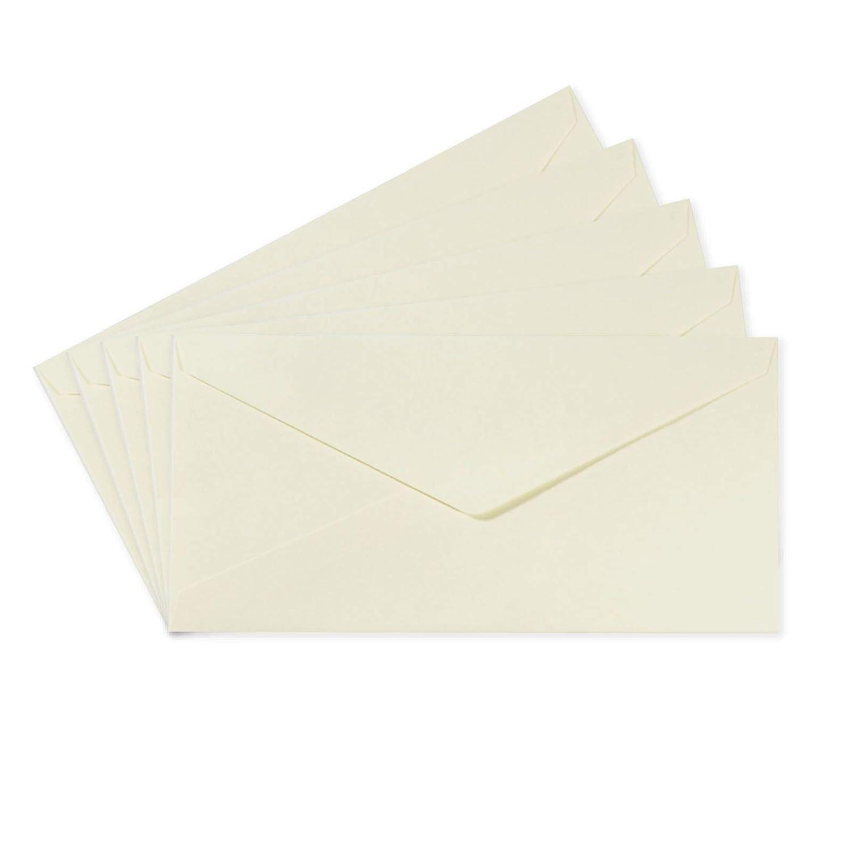 Biglietti Coordinati Disponibili Buste Rettangolari Piccoli Florence di Vaessen Creative per Biglietti di Auguri Bianche Set di 25