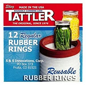 Tattler Rubber Rings 4 Oz Regular Mouth Boxed by S & S Innovations