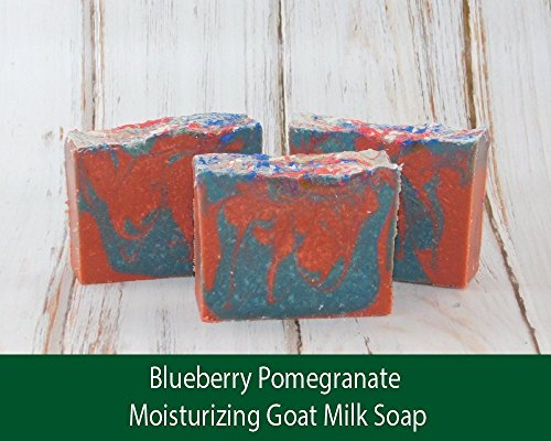 Blueberry Pomegranate Moisturizing Goat Milk Soap