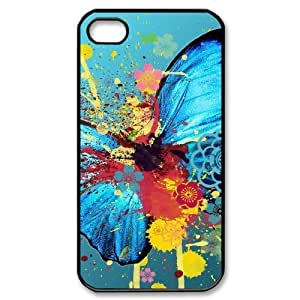 Hard Shell Case Of Butterfly Customized Bumper Plastic case For Iphone 4/4s