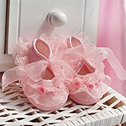 Itaar Cute Non-Slip Newborn Shoes Baby Girl Toddler Cloth Shoes With Beautiful Lace