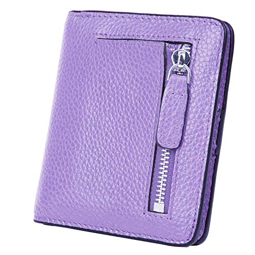 - BIG SALE-AINIMOER Women's RFID Blocking Leather Small Compact Bifold Pocket Wallet Ladies Mini Purse with id Window (Pink)