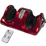 Foot Soaker Massager Reviews Foot Shiatsu Kneading Rolling Leg Massager Calf Ankle Heating And Remote Vibration Red Heat New Massage Burgundy Air Pressure