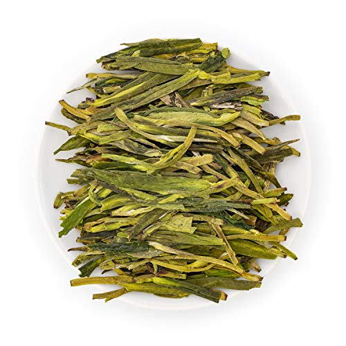 - Oriarm 250g / 8.82oz Longjing Tea Loose Leaf - Long Jing Dragon Well Chinese Green Tea Leaves - Yuqian Harvest Ecologically Grown