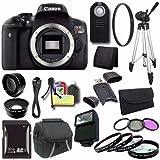 Canon EOS Rebel T6i DSLR Camera (Body Only) 0591C001 + 32GB SDHC Card + UV Filter + Case + Tripod + Saver Bundle For Sale