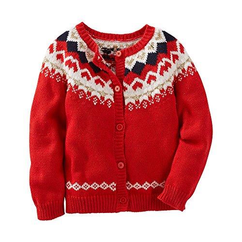 Toddler Girl OshKosh B'gosh Fairisle Wool Cardigan, 4T