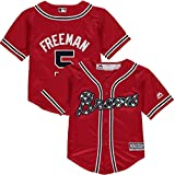 Outerstuff Freddie Freeman Atlanta Braves #5 Toddler Cool Base Alternate Red Jersey
