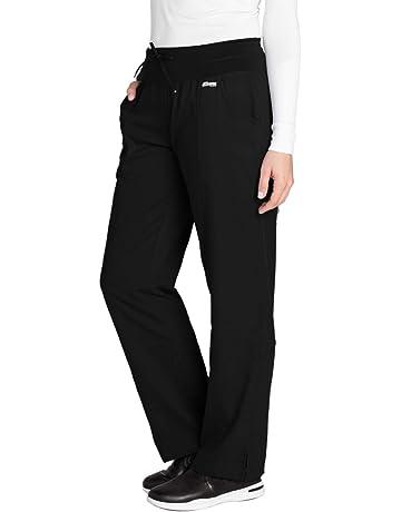 1195bb98a96 Amazon.com: Grey's Anatomy 4-Pocket Yoga Knit Pant for Women - Modern Fit  Medical Scrub Pant: Clothing