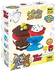 لعبة صلصال مع قوالب شكل كعك وبسكوت لمجموعة توم اند جيري للاطفال من بينجو