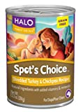 Halo Spot's Choice for Dogs, Turkey and Chickpea, 13.2oz/12 Cans, My Pet Supplies