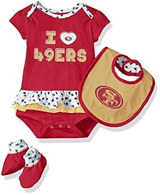 "NFL Girls Newborn ""Team Love"" Onesie, Bib & Bootsies"