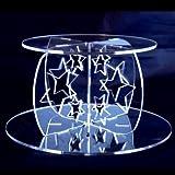 Base Circular De Acrilico Para Bodas Y Pastel De Partido Y Pilares Con Diseño Del Estrella, 10cm Alto & 15cm Diámetro