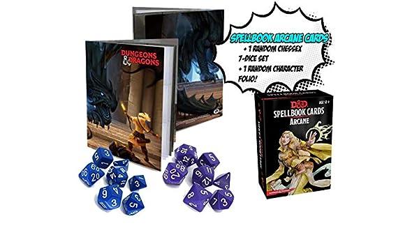 Dungeons & Dragons Arcana Spellbook – Incluye 1 Libro de Caracteres D & D al Azar y Chessex al Azar, Juego de 7 Dados. Bundle!: Amazon.es: Juguetes y juegos