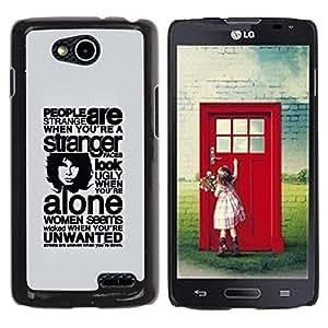 Be Good Phone Accessory // Dura Cáscara cubierta Protectora Caso Carcasa Funda de Protección para LG OPTIMUS L90 / D415 // Deep Message About People