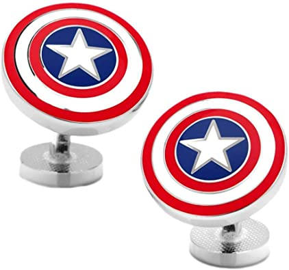 Captain america Marvel Shield Gemelos: Amazon.es: Joyería