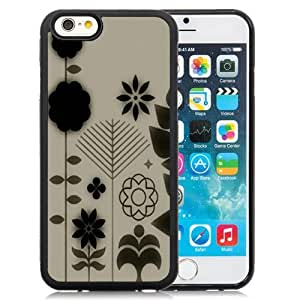 New Personalized Custom Designed For iPhone 6 4.7 Inch TPU Phone Case For Abstract Dark Flowers Phone Case Cover