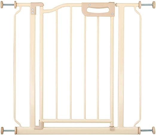 YFQ - Puerta de Seguridad de Metal para niños, protección de Mascotas, Barrera de Seguridad para Puerta de bebé, Valla de Seguridad, Escalera, barandilla, Puerta de Seguridad: Amazon.es: Jardín