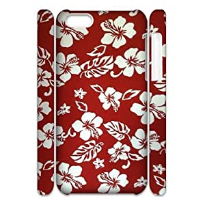 Red Hawaii Flower Custom 3D Cover Case for Iphone 5C,diy phone case ygtg607299