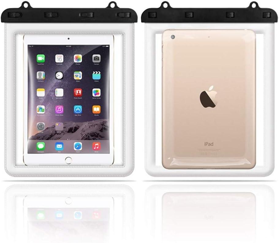 タブレットPC 防水ケース IPAD/iPad mini 用 IPx8認定 完全防水 風呂 海水浴 水泳 釣りビーチ 10インチ以下タブレット スタイリッシュ ストラップ付き の画像