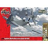 Airfix Plastic Models Kits Plastic Models Kits Supermarine Spitfire MkVb Messerschmitt Bf109E Dogfight Doubles Gift Set 1:48 Scale Airplane Plastic Model Kits A50160