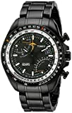 Timex Men's T2P103DH Black Ion-Plated Stainless Steel Intelligent Quartz Aviator Fly-Back Watch