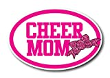 Cheer Mom Ribbon Car Magnet Decal 4 x 6 Oval