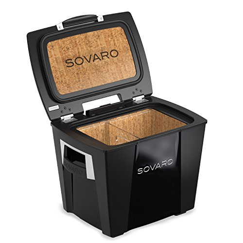 - Sovaro Luxury Cooler, Black, 30 Quart