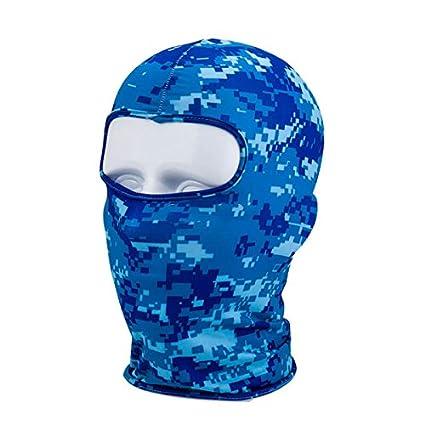 TOOGOO aire libre Mascarilla facial de la mascara de Lycra del pasamontanas delgada de la motocicleta