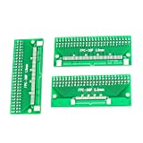 Uxcell a14060600ux0536 3 Piece 65 mm x 26 mm 2 Sides 0.5 mm 1 mm to 2.54 mm Pitch DIP50 PCB Adapter, 1.02'' Width, 2.56'' Length