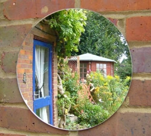 Great Stylish Outdoor Garden Mirror Cm Diameter With Outdoor Mirror.