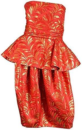 "Brocade Jacquard Fabric Orange x Metallic Gold Color 44"" Bro686[2]:  Amazon.in: होम और किचन"