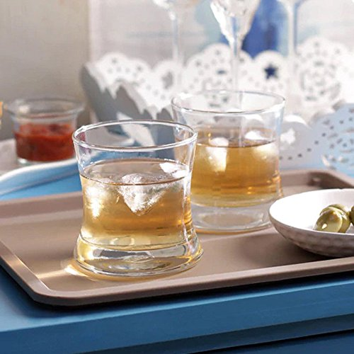 Ocean Tango Rock Glass Set  255 ml, Clear, Pack of 6 …