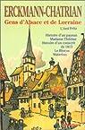 Gens d'Alsace et de Lorraine par Erckmann-Chatrian