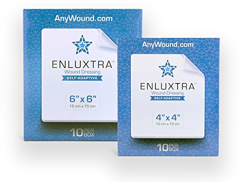 """Image of 006 """"Any Wound"""" Dressing - Box of 10 Enluxtra 6""""x6"""" Self-Adaptive Super"""