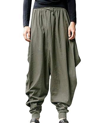 Yisism - Pantalones de chándal para Hombre con Cintura elástica ...