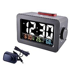 HOMEE Clock-multifunctional creative alarm clock personal bedroom bedside luminous clock can charge your mobile phone,B