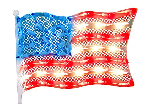 Impact Innovations Patriotic Lighted Window Decoration, Grand Old Flag ()