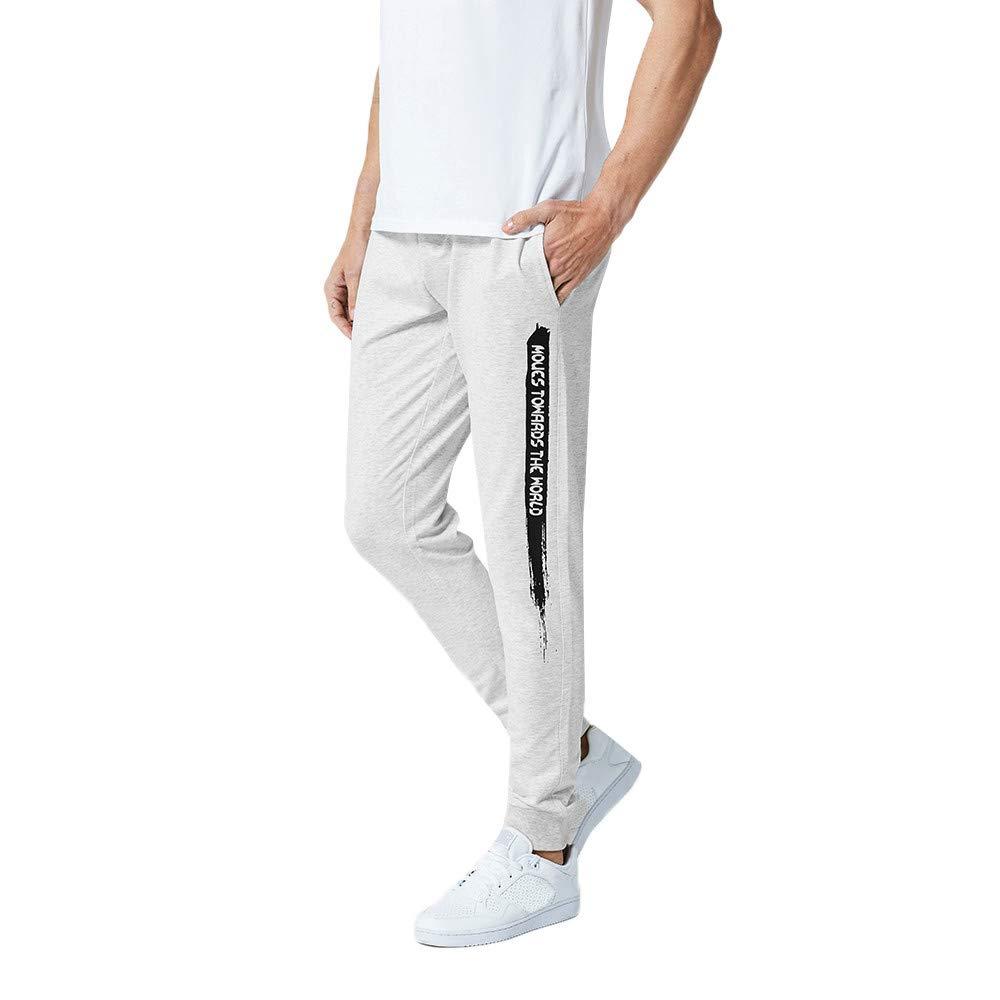 Alalaso Sweatpants for Men, Men's Athletic Running Cotton Pants Jogging Track Sweatpants Tapered Leg Grey
