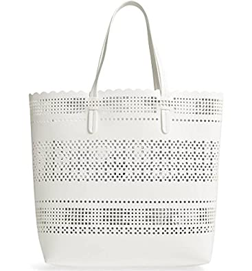 2a6f24639 Image Unavailable. Image not available for. Color: Casey Geometric Cutout Faux  Leather Women Stylish Tote Shoulder Bag ...