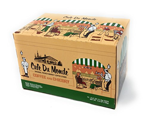 Cafe Du Monde Coffee and Chicory Single-Serve Cup Pods, 12 Count          - New Orleans French Coffee