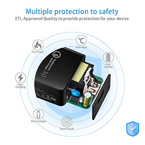 Note:Not Fit Zenpad 10 Z300 Zenpad Z10 ZT500KL ZenPad 3S 10 // S8 Z580CA Tablet Quick Charge 3.0 18W USB Wall Charger and 5Foot USB C Cable Compatible Asus ZenPad Z8