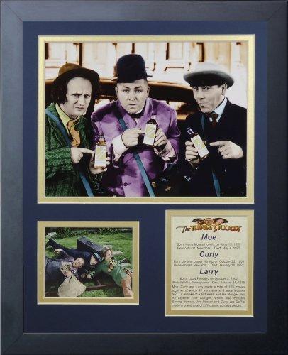 """Legenden Sterben Nie """"Die drei Stooges Verkäufer"""" gerahmtes Foto Collage, 11 x 35,6 cm von Legends Never Die"""