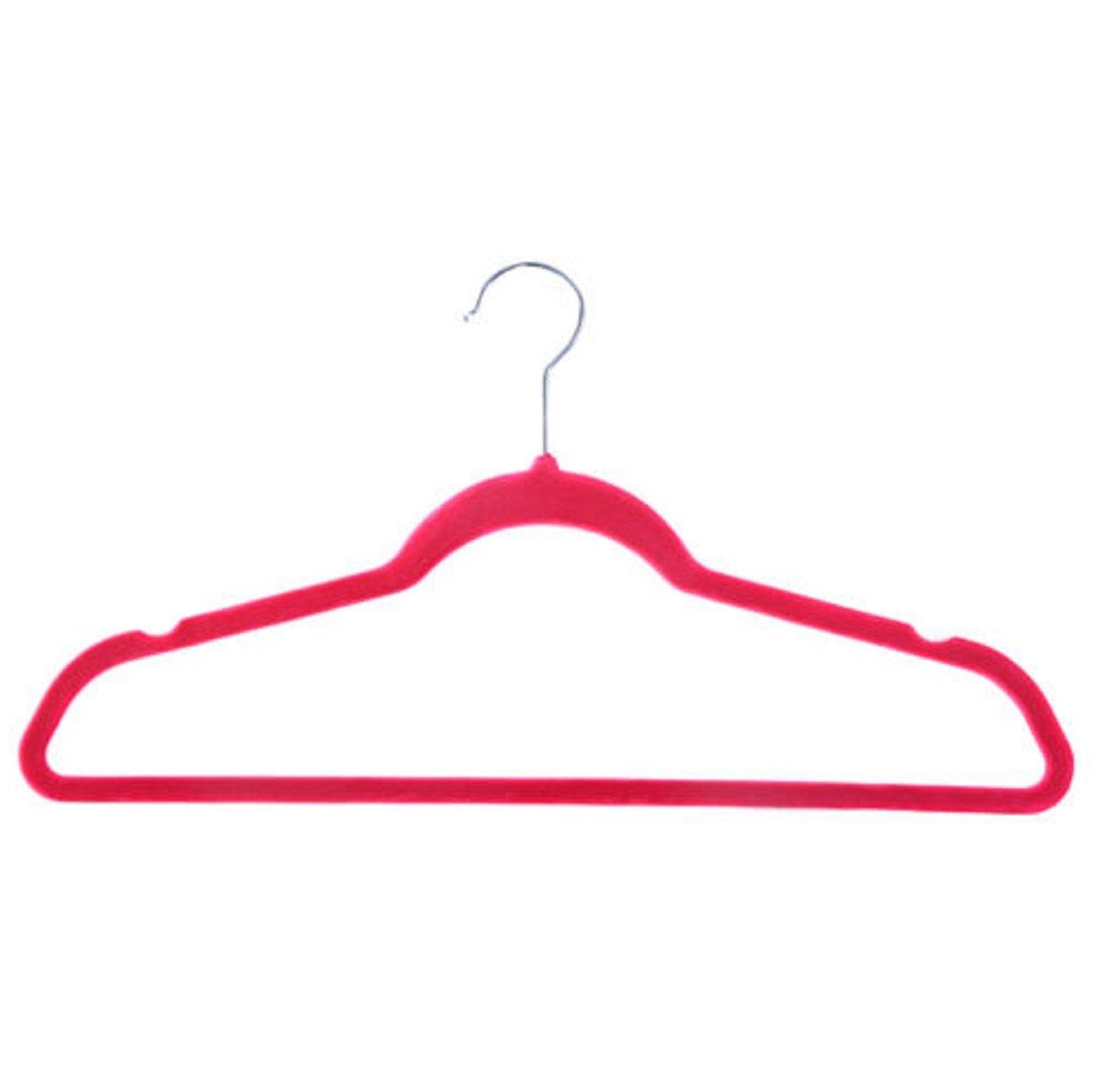 60 PCS Non Slip Velvet Clothes Suit Pants 4 colors the Shape Suit/Shirt/Pants Hangers Multicolor by Phumon567 (Image #8)