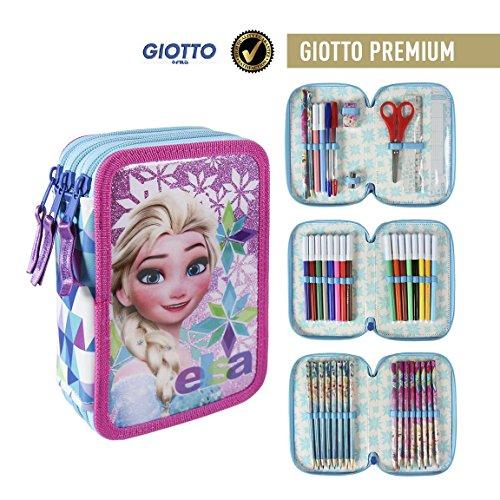 Disney Frozen 2700-192 Filled Pencil Case Triple, 3 Compartm