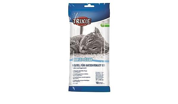 Trixie 10 Bolsas para band. higiénica gatos,hasta 37x48cm ...