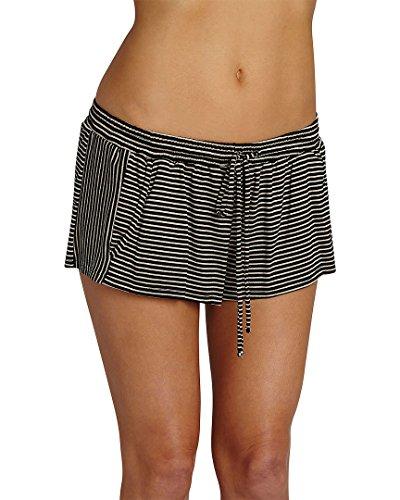 Eberjey Women's Toni Drawstring Shorts, Black/Natural, (Eberjey Natural)